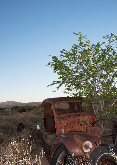 An old truck on the arroyo by our friend's house.